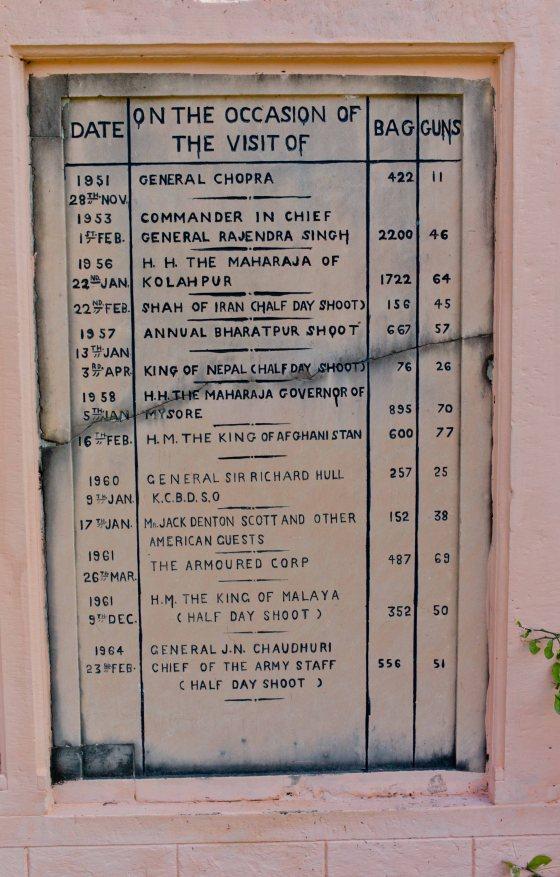 Bharatpur bird shooting records