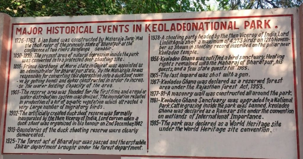 Historical Events Of Keoladeo National Park