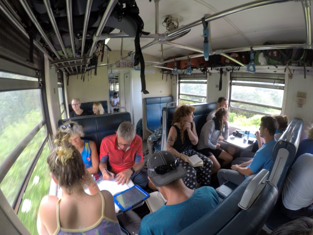 Inside 2nd Class Train