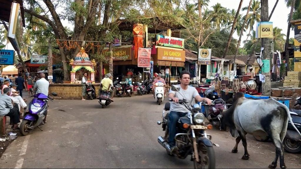 Driving Without Helmet In Goa Road