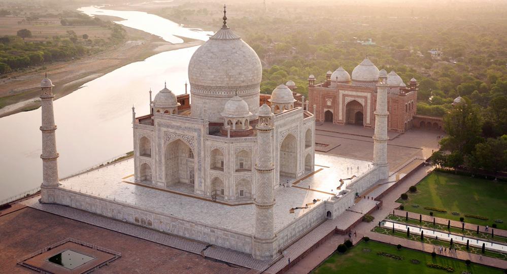 Taj Mahal Drone View