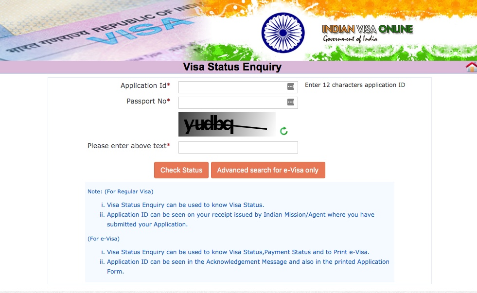 Indian Visa Processing Status