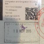 Sri Lanka Visa Sticker